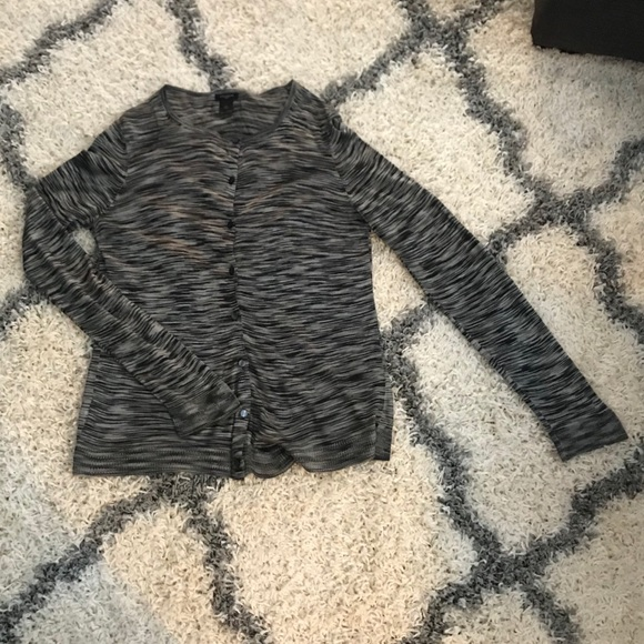 Ann Taylor Sweaters - Ann Taylor black and gray button down cardigan